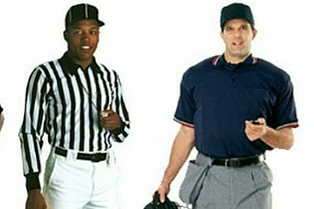 Sports officials large