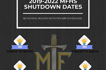 Shutdown Dates