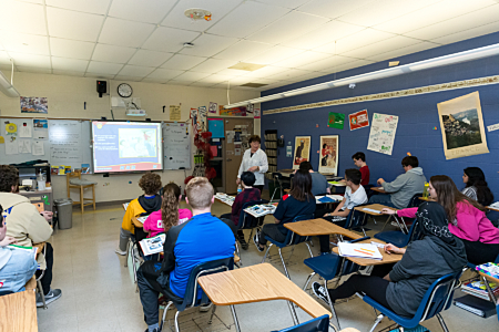 Class at Maroa-Forsyth High School
