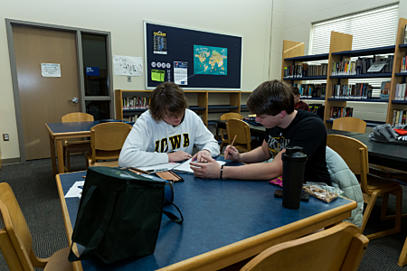 Studying at Maroa-Forsyth High School