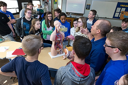Class at Maroa-Forsyth Middle School