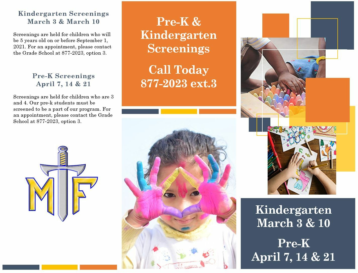 Pre-K & Kindergarten Screenings
